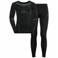 Ensemble de sous-vêtements techniques longs PERFORMANCE EVOLUTION WARM  pour homme, black - odlo graphite grey, large