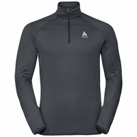 Men's CARVE LIGHT 1/2 Zip Midlayer, odlo graphite grey, large