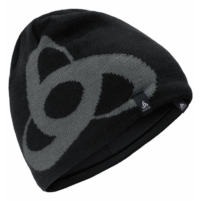 CERAMWARM PRO MID GAGE Hat, black - odlo steel grey, large