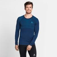 T-shirt technique à manches longues PERFORMANCE LIGHT pour homme, estate blue - blue aster, large