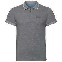 Polo manches courtes NIKKO, odlo steel grey melange, large