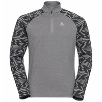 Men's SNOWCROSS 1/2 Zip Midlayer, odlo graphite grey - graphic FW20, large