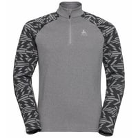 Pull ½ zip SNOWCROSS pour homme, odlo graphite grey - graphic FW20, large