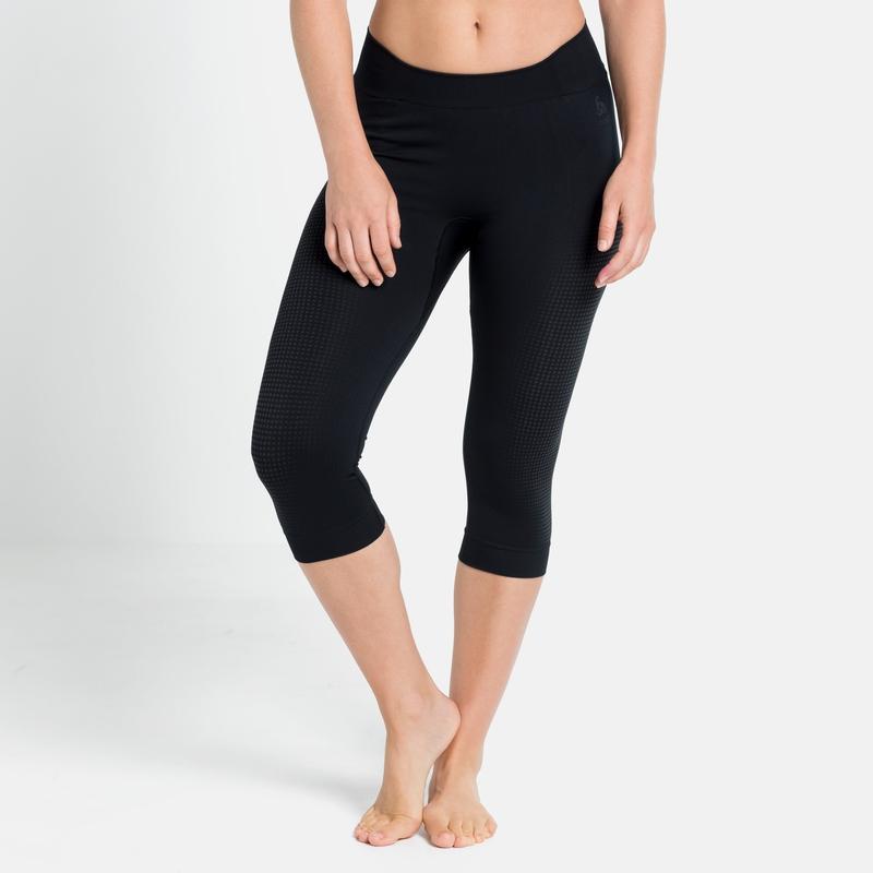 Women's PERFORMANCE WARM ECO Base Layer 3/4 Pants, black - odlo graphite grey, large