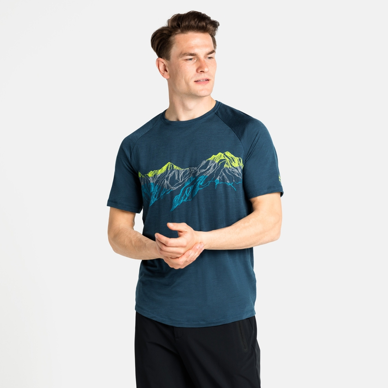 The Concord Summit Print t-shirt, deep dive, large