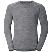 REVOLUTION LIGHT Baselayer Shirt Long-Sleeve, grey melange, large