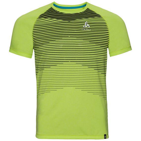 T-shirt s/s AION, acid lime melange - placed print SS18, large