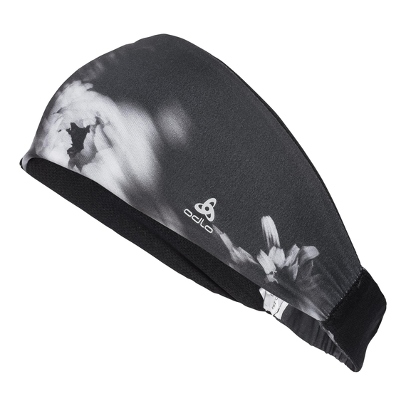 Headband TRAINING WIDE, black AOP, large