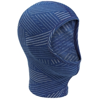ORIGINALS WARM KIDS-gezichtsmasker, clematis blue - grey melange - AOP FW19, large