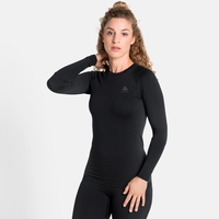 Women's PERFORMANCE WARM ECO Long-Sleeve Baselayer, black - odlo graphite grey, large