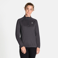 Midlayer con 1/2 zip CARVE LIGHT da donna, black, large