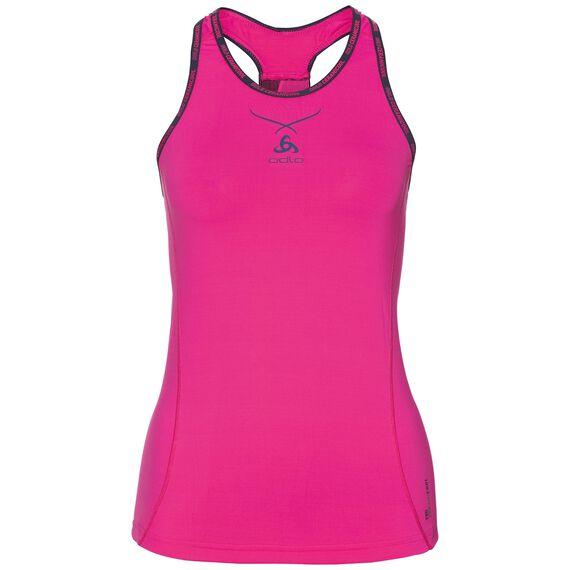 Ceramicool pro baselayer singlet women, pink glo - peacoat, large