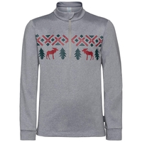 Midlayer full zip PAZOLA REINDEER, grey melange, large