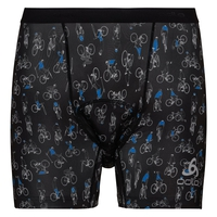 Boxer Cycle SUMMER SPLASH pour homme, black - Cycling AOP, large