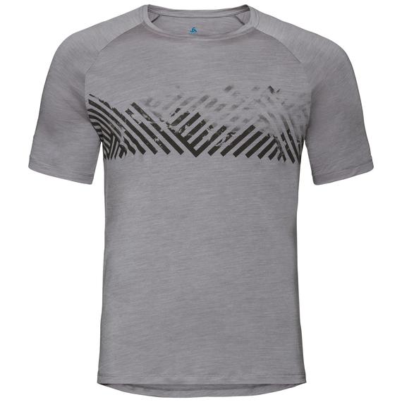 HAUT BL CONCORD, grey melange - mountain stripe SS19, large