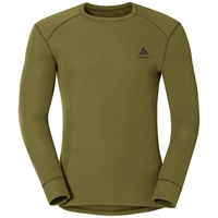 Active Originals Warm langärmeliges Shirt mit Rundhalsausschnitt, winter moss, large