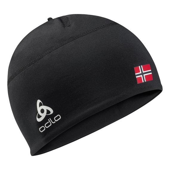 POLYKNIT FAN WARM Hat, black -  NORWEGIAN flag, large