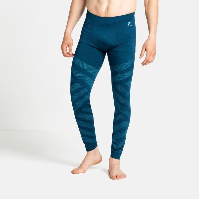 Herren NATURAL + KINSHIP WARM Base Layer Pants, deep dive melange, large