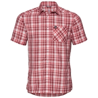 Chemise MYTHEN, white - red dahlia - chinese red - check, large