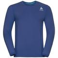 BL Top Crew neck l/s CERAMICOOL pro, sodalite blue, large