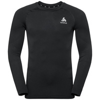 Men's CERAMIWARM Long-Sleeve Base Layer Top, black, large