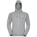 Hoody midlayer full zip Core, grey melange, large