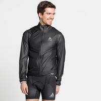 Men's ZEROWEIGHT DUAL DRY Waterproof Hardshell Cycling Jacket, black, large
