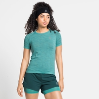 Damen BLACKCOMB CERAMICOOL Laufshirt, jaded - space dye, large