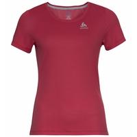 T-shirt F-DRY pour femme, deep claret, large