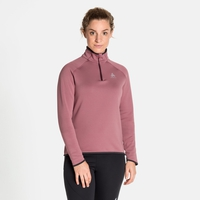 Midlayer con 1/2 zip CARVE CERAMIWARM da donna, roan rouge, large