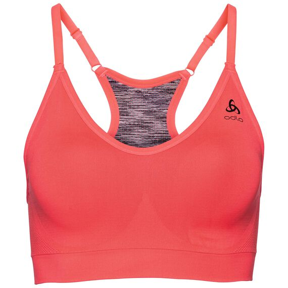 Sports Bra PADDED SEAMLESS SOFT, fiery coral, large