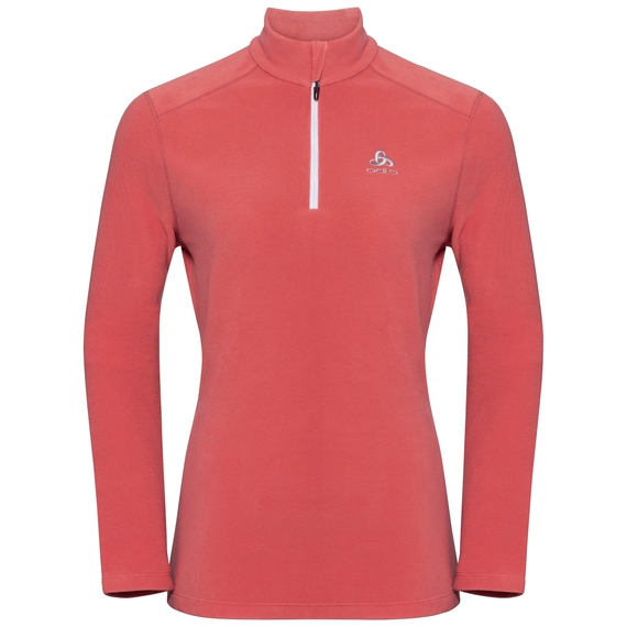 Women's LE TOUR 1/2 Zip Midlayer, faded rose, large