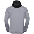 Men's SIMON Midlayer Hoody, odlo concrete grey melange, large