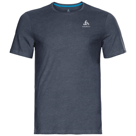 BL Top CORE kurzärmeliges Oberteil mit Rundhalsausschnitt, diving navy - placed print FW18, large