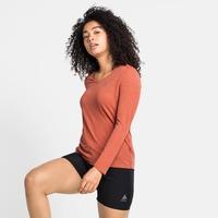 HALDEN LINENCOOL-T-shirt met lange mouwen voor dames, burnt sienna melange, large