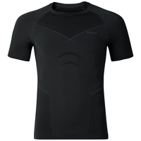 EVOLUTION WARM Maglia baselayer a maniche corte, black - odlo graphite grey, large