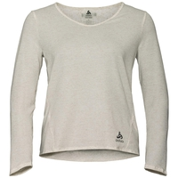 LOU LINENCOOL-shirt met lange mouwen voor dames (This is V Neck in Workbook), light grey melange, large