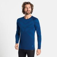 Herren NATURAL + KINSHIP WARM Baselayer-Shirt, estate blue melange, large