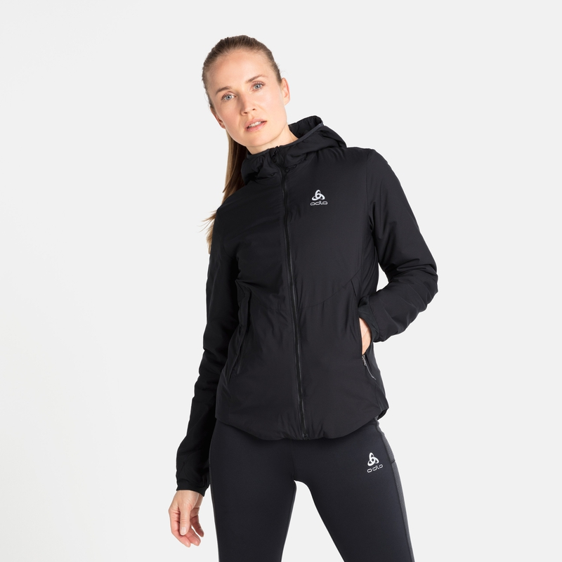 Women's FLI S-THERMIC Insulated Jacket, black, large