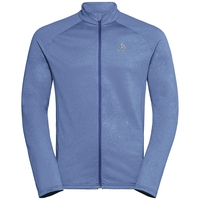 Midlayer full zip, indigo melange, large