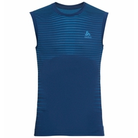 Men's PERFORMANCE LIGHT Base Layer Singlet, estate blue - blue aster, large