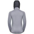 Hoody midlayer full zip KATJA, grey melange, large