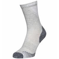 Unisex ACTIVE WARM RUNNING Crew Socks, odlo silver grey, large