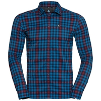 Chemise FAIRVIEW pour homme, mykonos blue - red dahlia - peacoat - check, large