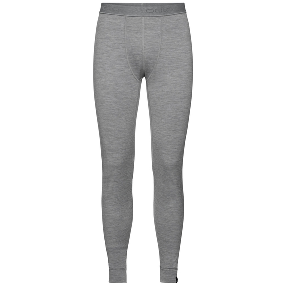 Natural 100 Merino Warm baselayer pants men, grey melange, large