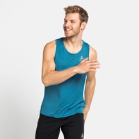 RUN EASY-tanktop voor heren, horizon blue melange, large