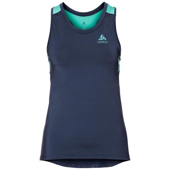 BL Top CERAMICOOL Unterhemd mit Rundhalsausschnitt, diving navy - pool green, large