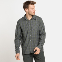 Men's MYTHEN Long-Sleeve Shirt, climbing ivy - grey melange, large