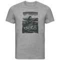 KUMANO LOGO Baselayer T-Shirt, grey melange - placed print SS19, large
