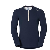 Shirt l/s crew neck Vallée Blanche WARM, navy new, large
